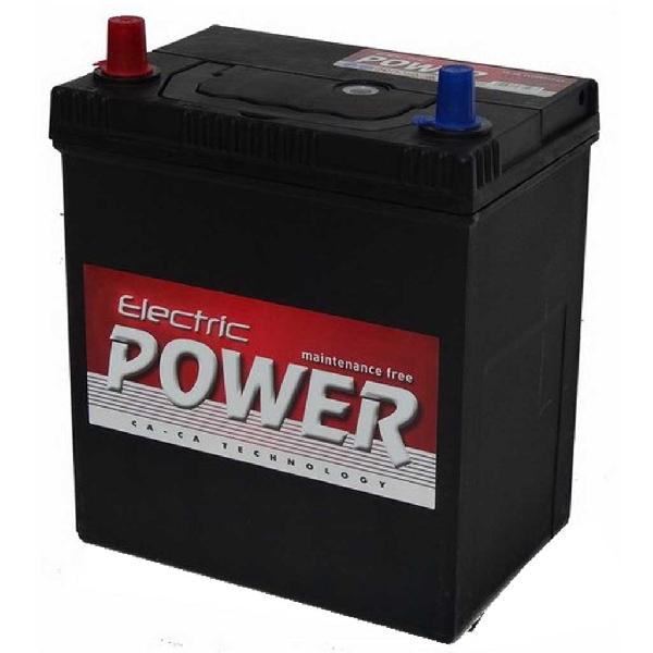 Akkumlátor 12V40Ah +- vékony sarus 33610-821C0 Jászakku Electric Power Suzuki Swift bal+